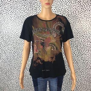 Harley Davidson black tee shirt size 2x